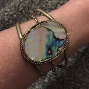 Vintage abalone cuff bracelet